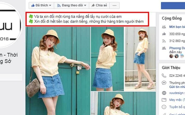 Những bài content mẫu bán hàng thời trang