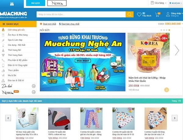 Một trang web chuyên giao bán sỉ trên mạng