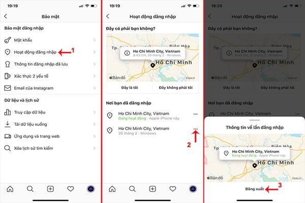 Cách đăng xuất nhiều tài khoản instagram trên diện thoại