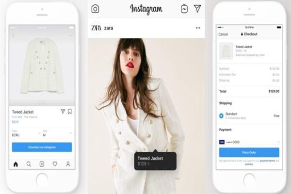 Điền thông tin mua hàng trên instagram