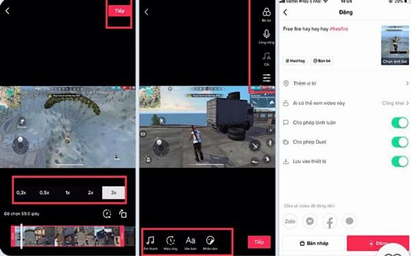 Tải video lên và thêm một số cài đặt điều chỉnh