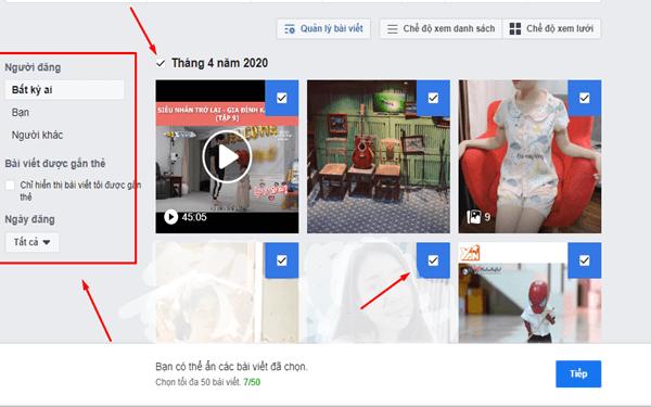 Cách xóa các bài viết trên Facebook nhanh