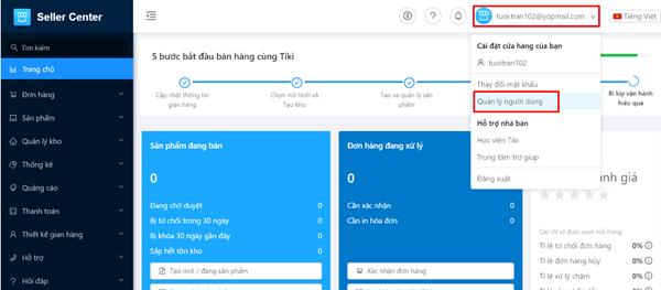 Sử dụng seller center Tiki đăng tải sản phẩm