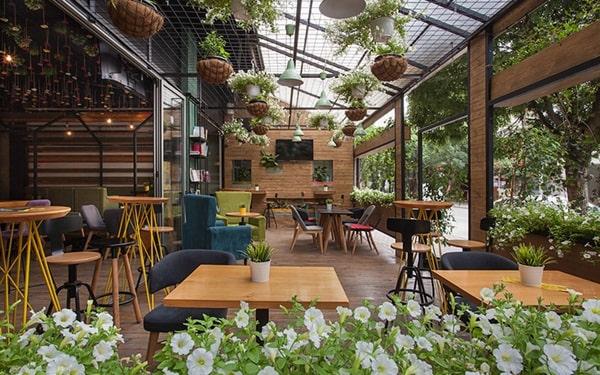 Mô hình cafe sân vườn