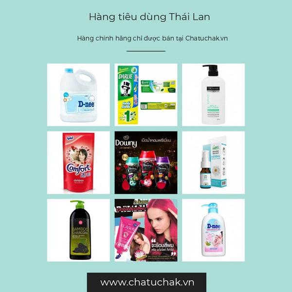 Chatuchak.vn cung cấp sỉ hàng tiêu dùng Thái nổi tiếng
