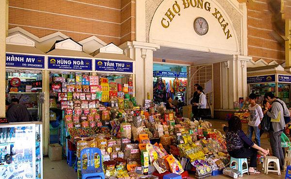 Chợ Đồng Xuân - nơi bỏ sỉ hàng tạp hóa Hà Nội
