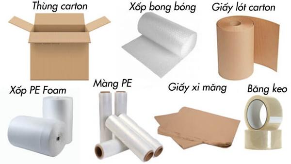 Các vật dụng dùng để đóng gói sản phẩm