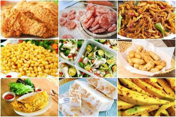 Các mặt hàng đồ ăn vặt được yêu thích