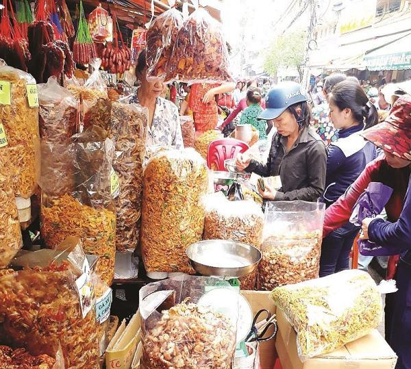 Quầy hàng đồ ăn chợ An Đông
