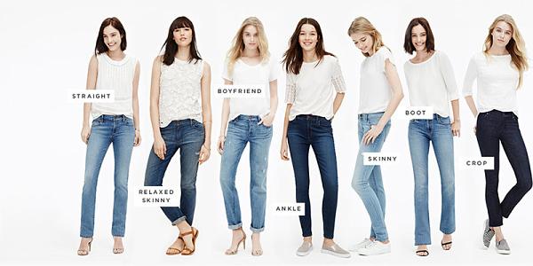 Nguồn quần jean nữ rất đa dạng mẫu mã
