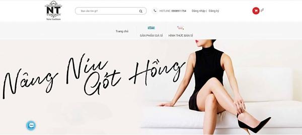 Trang chủ của website giày dép Ngọc Thạch