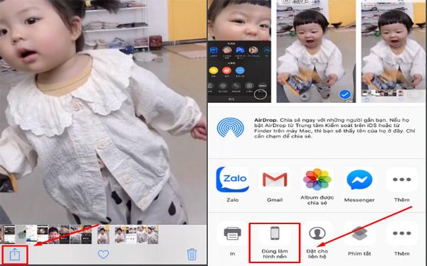 Sử dụng video tik tok để làm hình nền