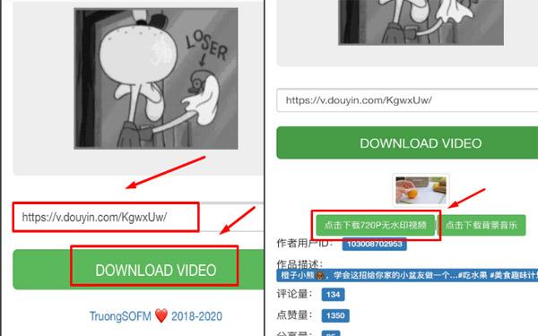 Vào trang web này để sao chép link video muốn tải