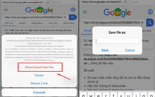 Đặt tên file và tải về ứng dụng media