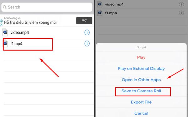 Lưu video về điện thoại và kết thúc quá trình tải video tik tok Trung Quốc