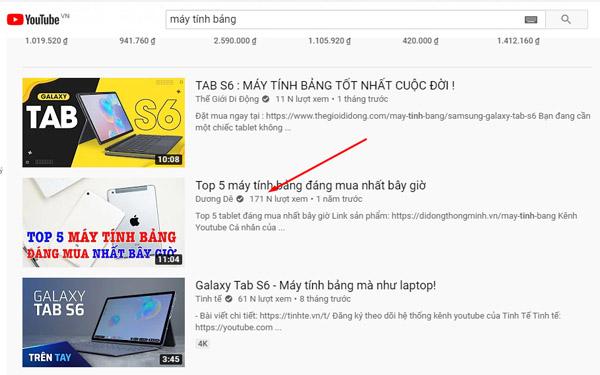 Tìm tìm kiếm sẽ mang về nhiều view, nhiều đề xuất cho kênh Youtube