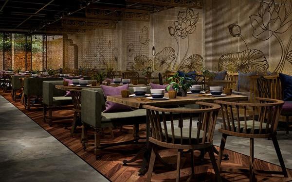 Thiết kế không gian phù hợp với phong cách nhà hàng
