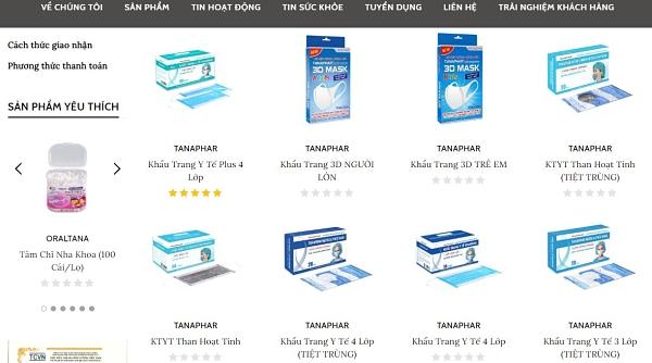 Khẩu trang y tế giá sỉ tại Hà Nội từ TANAPHAR