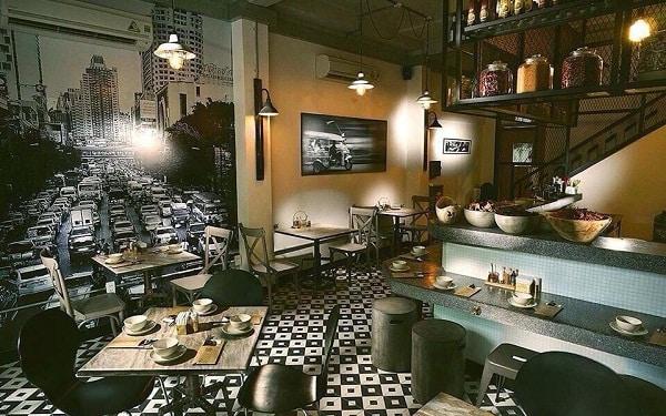 Bistro - Nhà hàng kết hợp quán cafe, quán rượu