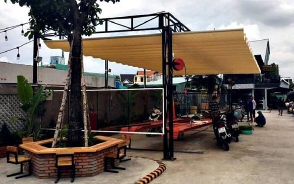 Mô hình quán cà phê rửa xe