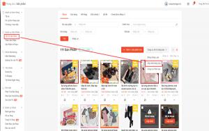 Shop thực hiện đăng sản phẩm hàng loạt khi muốn đăng nhiều mặt hàng cùng một lúc