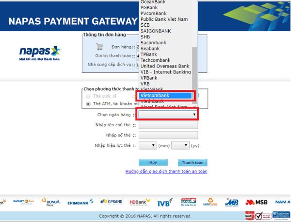 Cách thanh toán bằng thẻ ATM trên Lazada