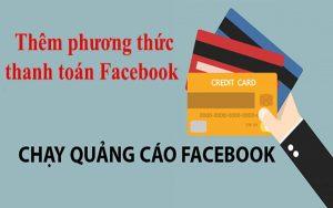 Thêm phương thức thanh toán Facebook