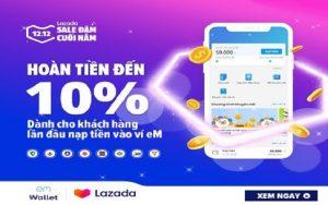 Cách sử dụng ví eM trên Lazada