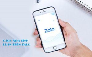 Cách xem bình luận trên Zalo