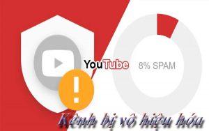 kênh youtube bị vô hiệu hóa