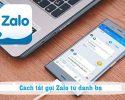 Tắt gọi Zalo từ danh bạ