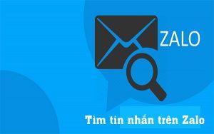 Tìm tin nhắn trên Zalo
