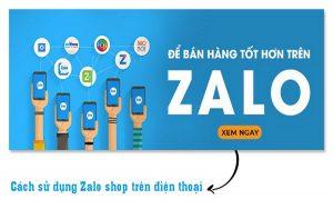 Zalo shop trên điện thoại