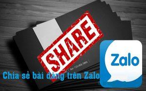 Cách chia sẻ bài viết trên Zalo