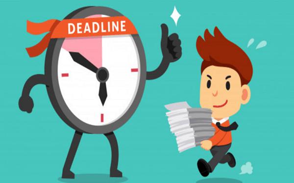 Xây dựng deadline và yêu cầu nhân viên thực hiện theo