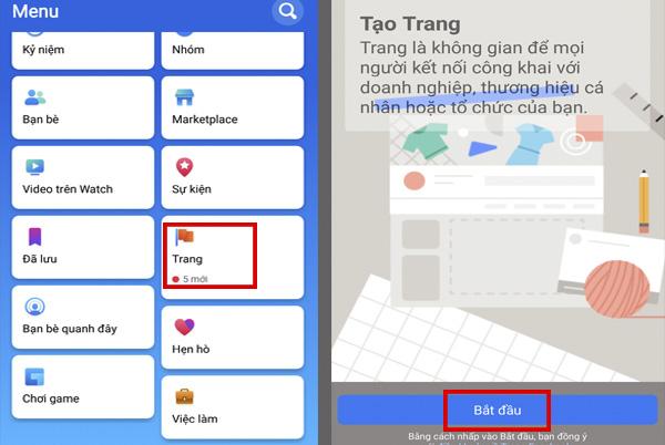 Bước đầu tạo Fanpage Facebook bằng điện thoại