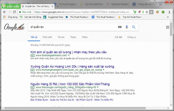 Tìm nguồn bán áo thun online tại nhà bằng cách tra Google