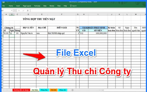 Thực trạng quản lý thu chi doanh nghiệp bằng Excel