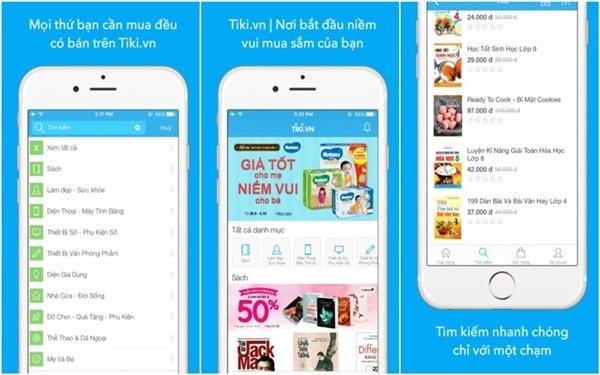 tiki seller app trên điện thoại android