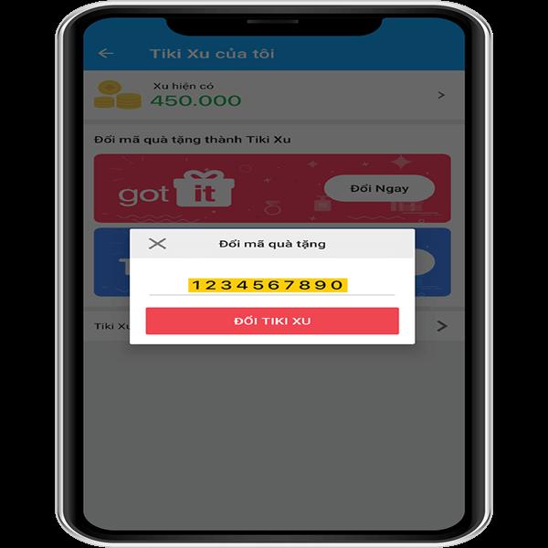 Nhập mã số quà tặng gồm 10 chữ số