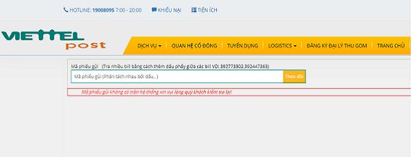 Tìm hiểu trạng thái giao hàng ở Viettel post