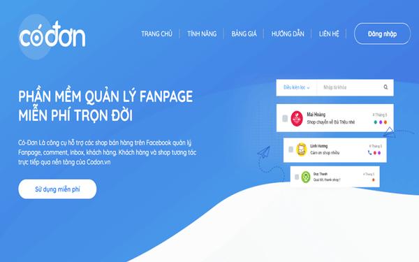Phần mềm quản lý Fanpage Codon