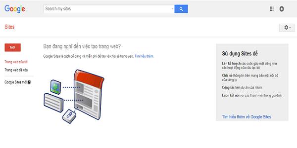 Tạo Site Web bằng Google miễn phí