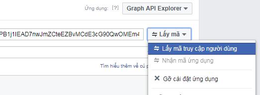Lấy mã truy cập người dùng