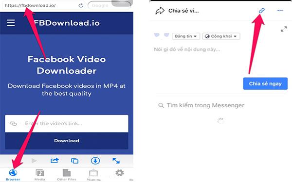 Tải video Facebook bằng hệ điều hành Android