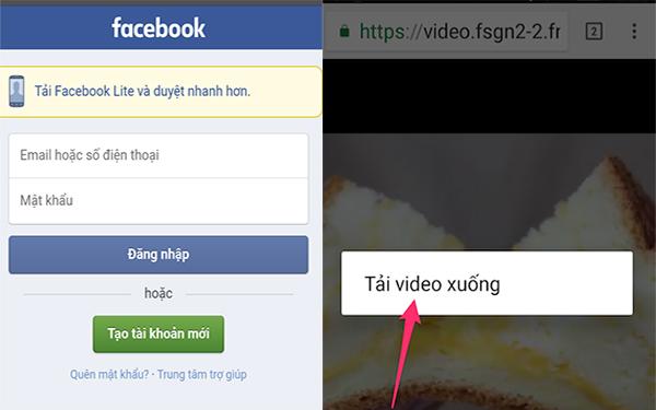 Tải video Facebook bằng điện thoại Android
