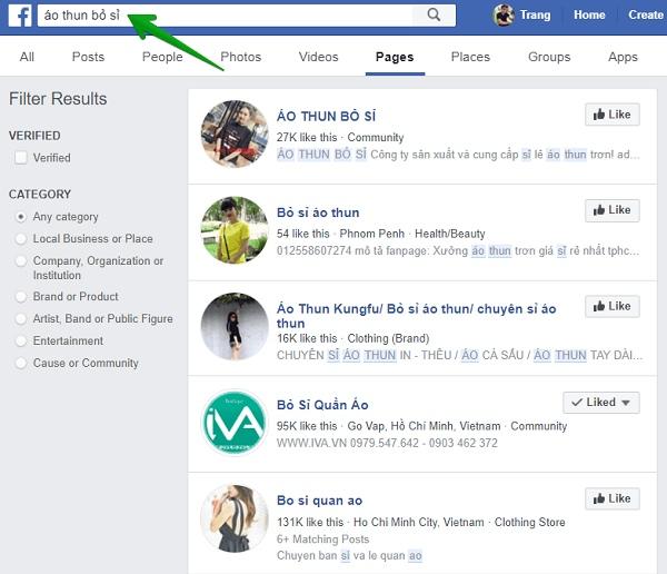 Mẹo tìm kiếm theo từ khóa trên Facebook
