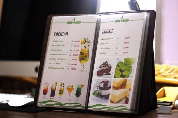 Thiết kế hình ảnh trên menu thật đẹp mắt