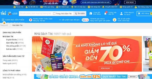 Website bán sách số 1 Việt Nam - Tiki